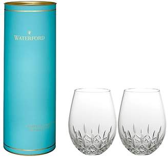 Waterford Giftology Lismore Nouveau Stemless Red Wine Glasses, Set of 2