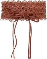 KRISP Faux Leather Crochet Lace Cinch Belt (CAN15295-NVY-OS.9)