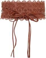 KRISP Soft Faux Leather Self Tie Wrap Around Obi Waist Belt (14987-COR-OS)