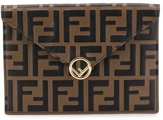 Fendi FF motif embossed cardholder