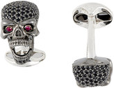Deakin & Francis Men's Skull Cufflinks with Pop-Out Eyes-BLACK