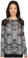 Zobha Long Sleeve Hoodie w/ Mesh Panels