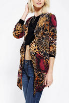 One Teaspoon Drapey Cheetah-Print Blazer