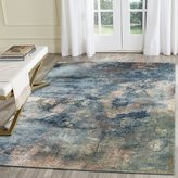 Safavieh Constellation Vintage Collection CNV765-22208 Abstract Watercolor Light Blue and Multi Viscose Runner