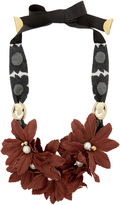 Lizzie Fortunato Samburu Floral Collar Necklace Red 1SIZE