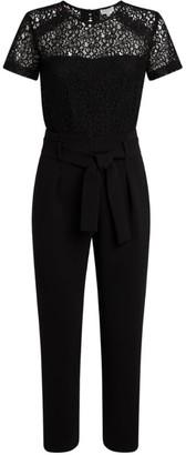 Claudie Pierlot Lace Tie-Waist Jumpsuit