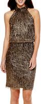 London Times London Style Collection Sleeveless Blouson Dress