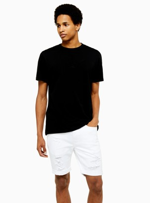 TopmanTopman White Rip Stretch Skinny Shorts