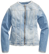 GUESS Embroidered Denim Jacket, Big Girls (7-16)