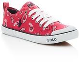Ralph Lauren Girls' Carlisle Lace Up Sneakers - Big Kid
