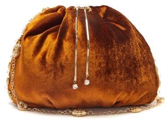 Rosantica Bisanzio Crystal-embellished Velvet Shoulder Bag - Orange Multi