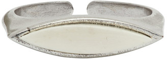 Isabel Marant Silver and Off-White Buffalo Bone Ring