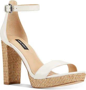 Nine West Dempsey Two-Piece Platform Sandals Women Shoes