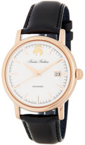 Brooks Brothers Men&s Core Collection Automatic Leather Strap Watch