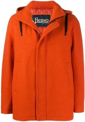 Herno virgin wool hooded jacket