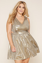 Forever 21 FOREVER 21+ Plus Size Metallic Fit & Flare Dress