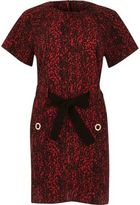 River Island Womens Red print bow tied T-shirt dress