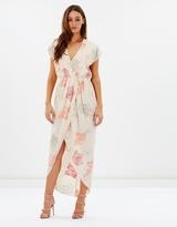 Gracious Drape Front Printed Dress