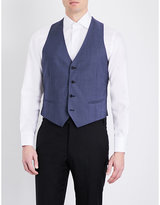 Armani Collezioni V-neck Wool And Mohair-blend Waistcoat