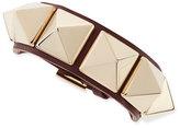 Valentino Medium Rockstud Leather Bracelet, Wine/Platino