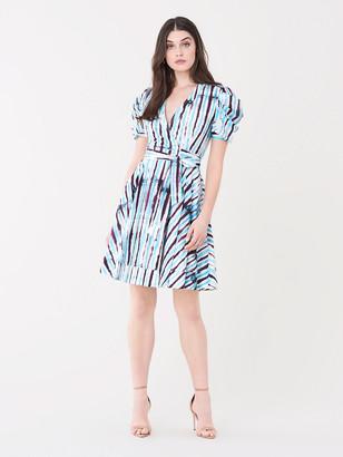 Diane von Furstenberg Indra Cotton Poplin Mini Wrap Dress