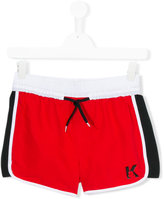 Karl Lagerfeld logo swim shorts - kids - Polyester - 16 yrs