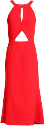 Nicholas Open-back Cutout Crepe Midi Dress