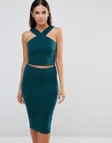 AX Paris Ribbed Top And Skirt Set