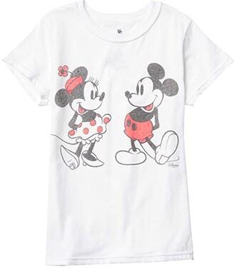 Junk Food Kids Disney Minnie Mickey T-Shirt (Little Kids/Big Kids) (White) Girl's Clothing