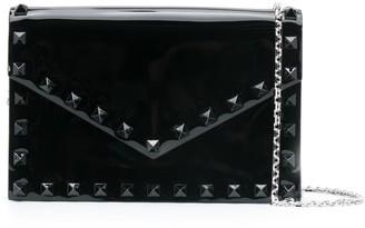 Valentino Rockstud patent-leather crossbody bag