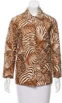 Salvatore Ferragamo Printed Silk Jacket