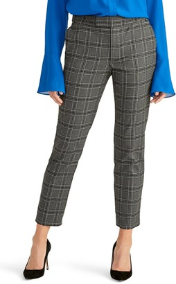 Rachel Roy Collection Plaid Ankle Crop Skinny Pants