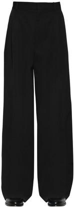 Loewe Pleated Wide Leg Wool Pants