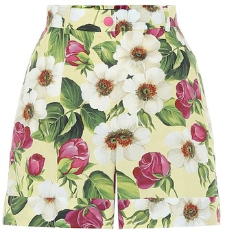 Dolce & Gabbana Floral cotton shorts