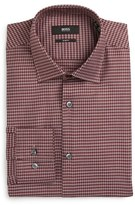 BOSS Men's Slim Fit Houndstooth Dress Shirt
