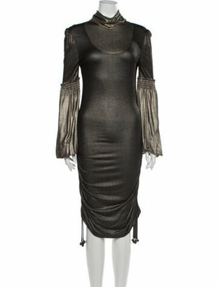 Matthew Williamson Turtleneck Knee-Length Dress Grey