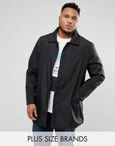 Duke Plus Trench Coat In Black