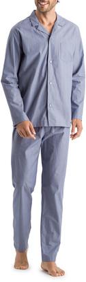 Hanro Men's Lynel Striped Cotton Pajama Set