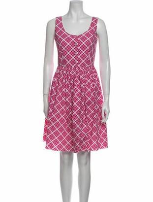 Prada Printed Knee-Length Dress Purple