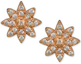 Giani Bernini Cubic Zirconia Flower Cluster Stud Earrings in 18k Rose Gold-Plated Sterling Silver, Created for Macy's