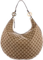 Gucci Large GG Canvas Twins Hobo