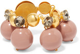 Marni Gold-plated, Crystal And Resin Bracelet - Antique rose