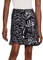Issa Winifred Patterned Knit Skirt