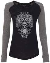 Yoga Clothing For You Ladies GREY BODHI TREE Slub Tee