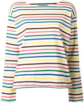 MiH Jeans Rainbow Stripe T-shirt - women - Cotton - XS