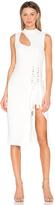 Rebecca Vallance Billie Cutout Midi Dress