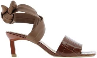 Ganni Ankle-Tie Heeled Sandals