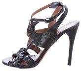 Alaia Leather Multistrap Sandals
