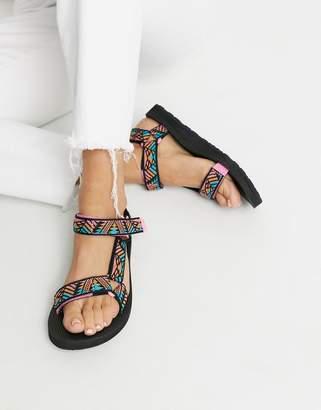 Teva Original Universal sandals in boomerang pink print
