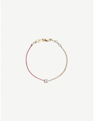 THE ALKEMISTRY Redline Princess 18ct rose-gold, silk, pearl and diamond bracelet